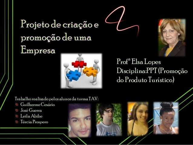 Trabalhorealizado pelos alunos da turma TAV: Guilherme Cesário José Guerra Leila Abibe TérciaProspero Profª Elsa Lopes Dis...