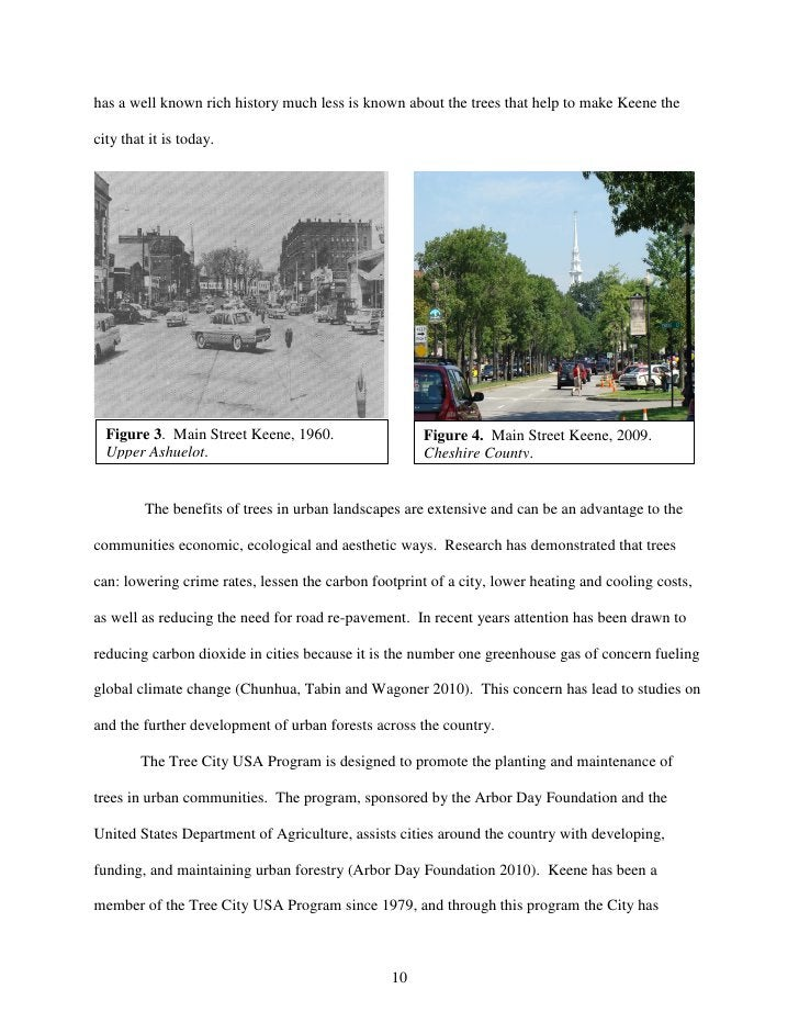 has a well known rich history much less is known about the trees that help to make Keene thecity that it is today.  Figure...