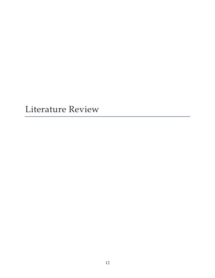 Literature Review                    12