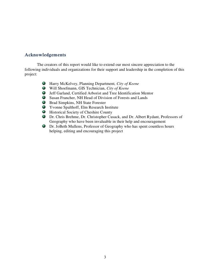 Acknowledgements        The creators of this report would like to extend our most sincere appreciation to thefollowing ind...