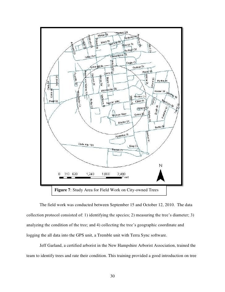 Figure 7: Study Area for Field Work on City-owned Trees       The field work was conducted between September 15 and Octobe...