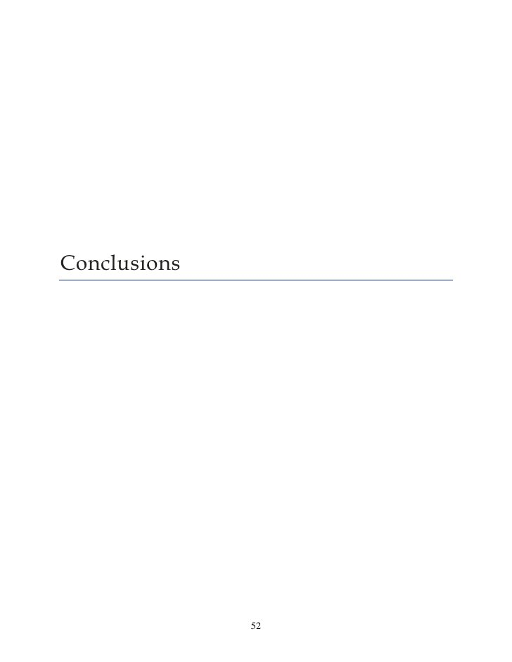 Conclusions              52