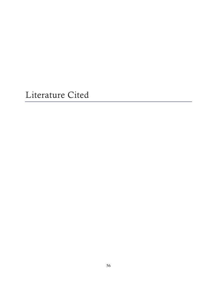 Literature Cited                   56