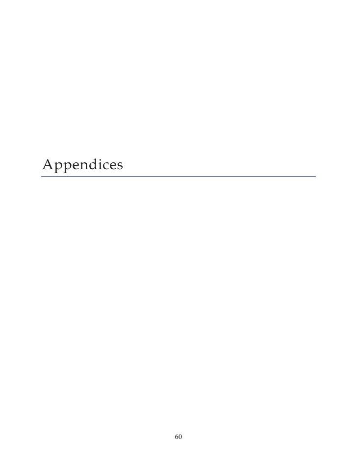 Appendices             60