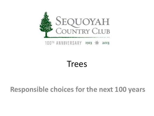 Trees Responsible choices for the next 100 years
