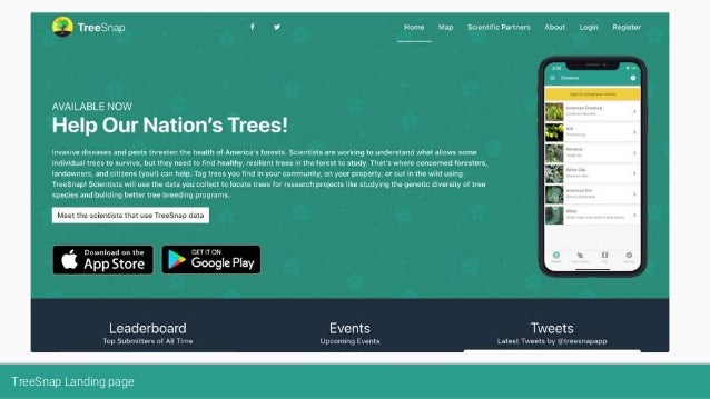 TreeSnap Landing page