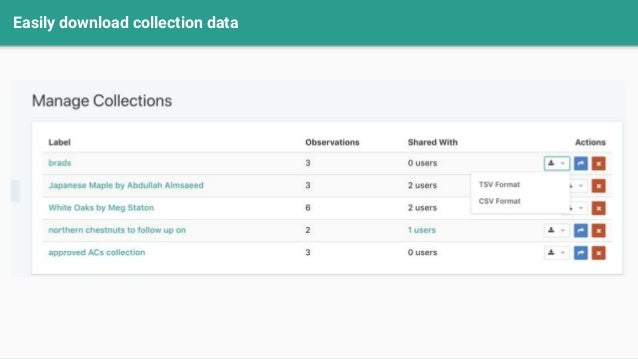 Easily download collection data