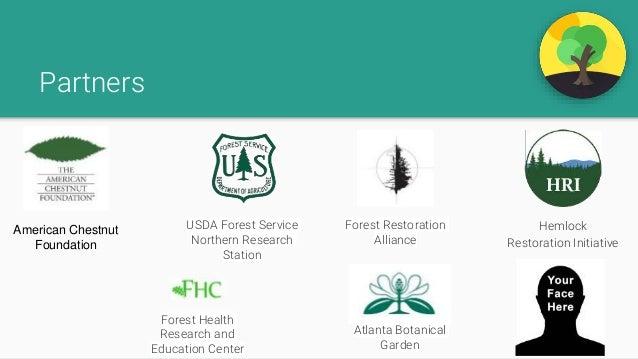 Partners American Chestnut Foundation USDA Forest Service Northern Research Station Forest Restoration Alliance Hemlock Re...