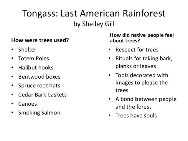 Trees of the tongass for What do we use trees for