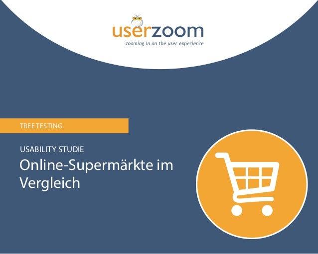 TREE TESTING  USABILITY STUDIE  Online-Supermärkte im Vergleich  1
