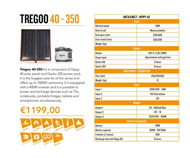 Tregoo Products List Solar Power Stations Ultra Light