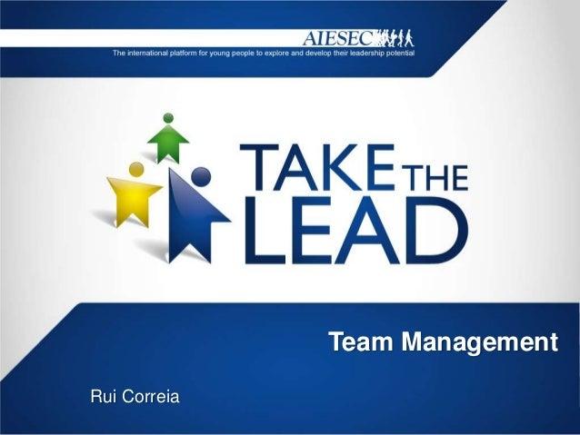 Team ManagementRui Correia