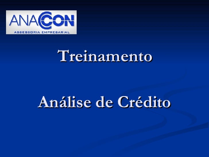 Treinamento Análise de Crédito