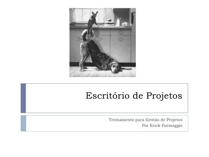 Escritório de Projetos<br />Treinamento para Gestão de Projetos<br />Por Erick Formaggio<br />