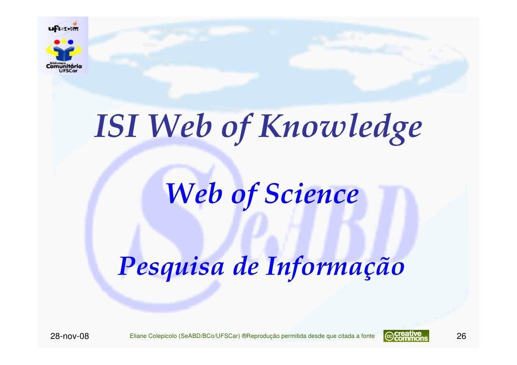 Treinamento Portal Web Of Science