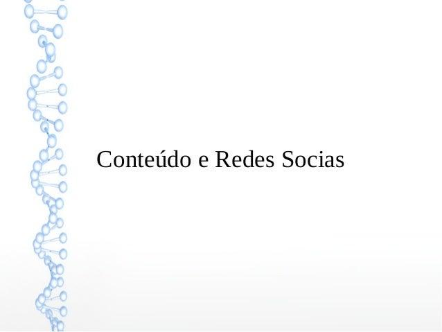 Conteúdo e Redes Socias