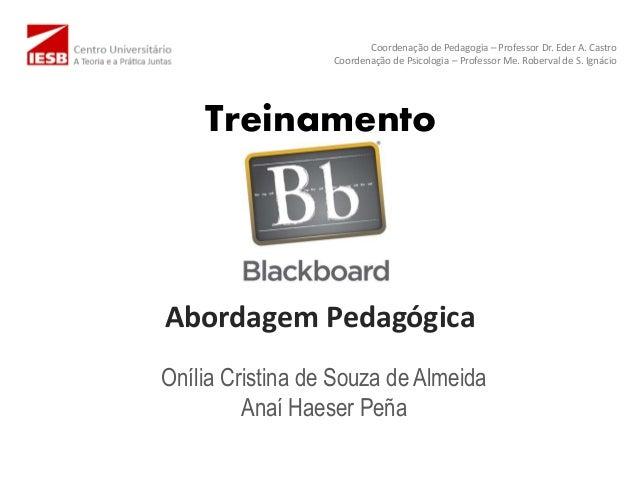 Treinamento Abordagem Pedagógica Onília Cristina de Souza de Almeida Anaí Haeser Peña Coordenação de Pedagogia – Professor...