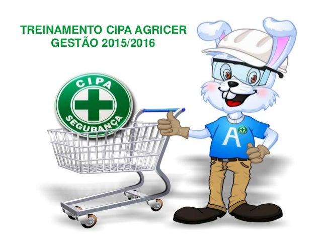 capa TREINAMENTO CIPA AGRICER GESTÃO 2015/2016