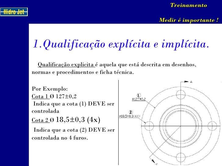 Qualificação explicita  é aquela que está descrita em desenhos, normas e procedimentos e ficha técnica. Por Exemplo:  Co...