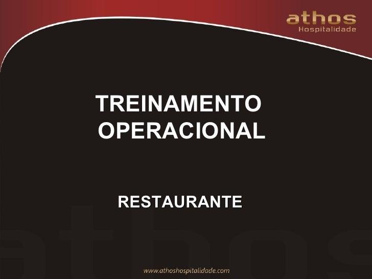 TREINAMENTO  OPERACIONAL RESTAURANTE