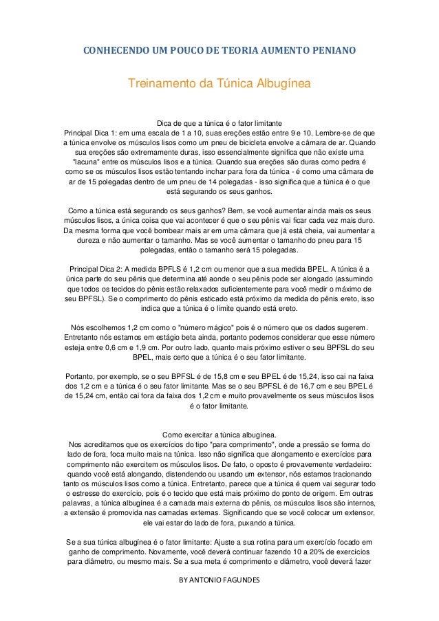 CONHECENDO UM POUCO DE TEORIA AUMENTO PENIANOBY ANTONIO FAGUNDESTreinamento da Túnica AlbugíneaDica de que a túnica é o fa...