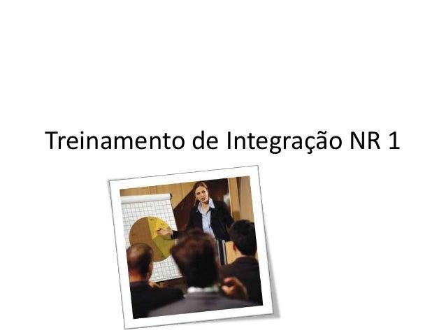 Treinamento de Integração NR 1