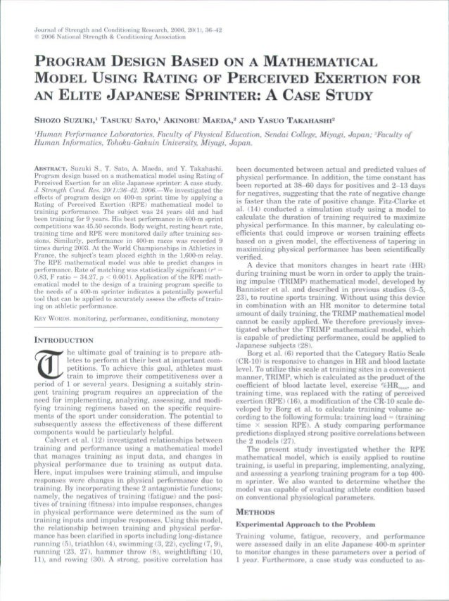 Journal of Strength and Conditioning Research, 2006, 20(11, 36-42© 2006 National Strength &. Conditioning AssociationPROGR...