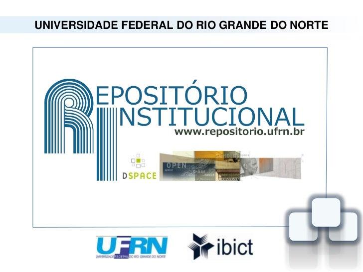 Repositório Institucional da UFRN