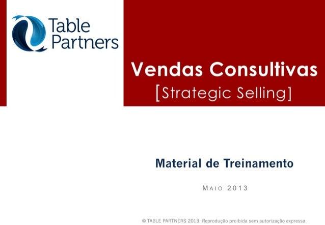 Treinamento strategic selling 2013