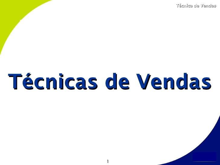 Treinamento t cnicas de vendas for Tecnicas gastronomicas pdf