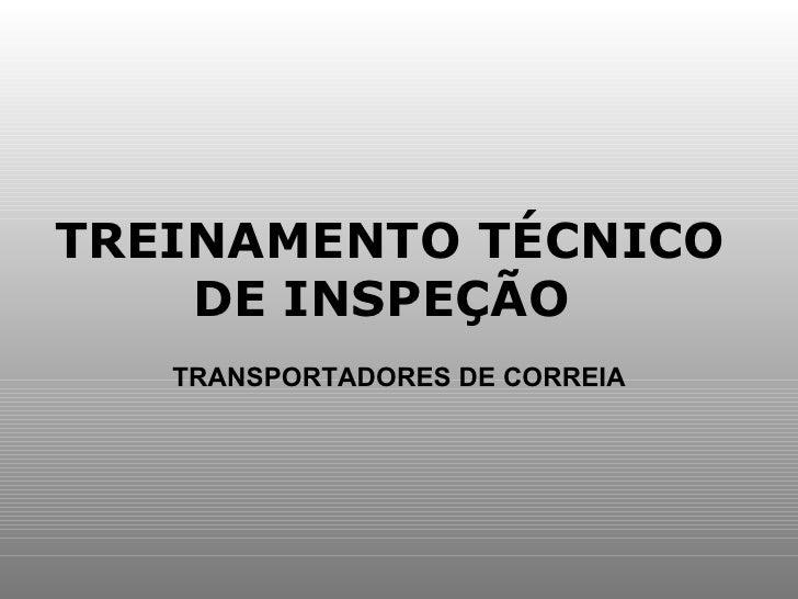 TREINAMENTO TÉCNICO DE INSPEÇÃO  TRANSPORTADORES DE CORREIA