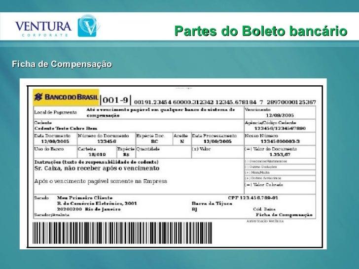 Partes do Boleto bancário Ficha de Compensação