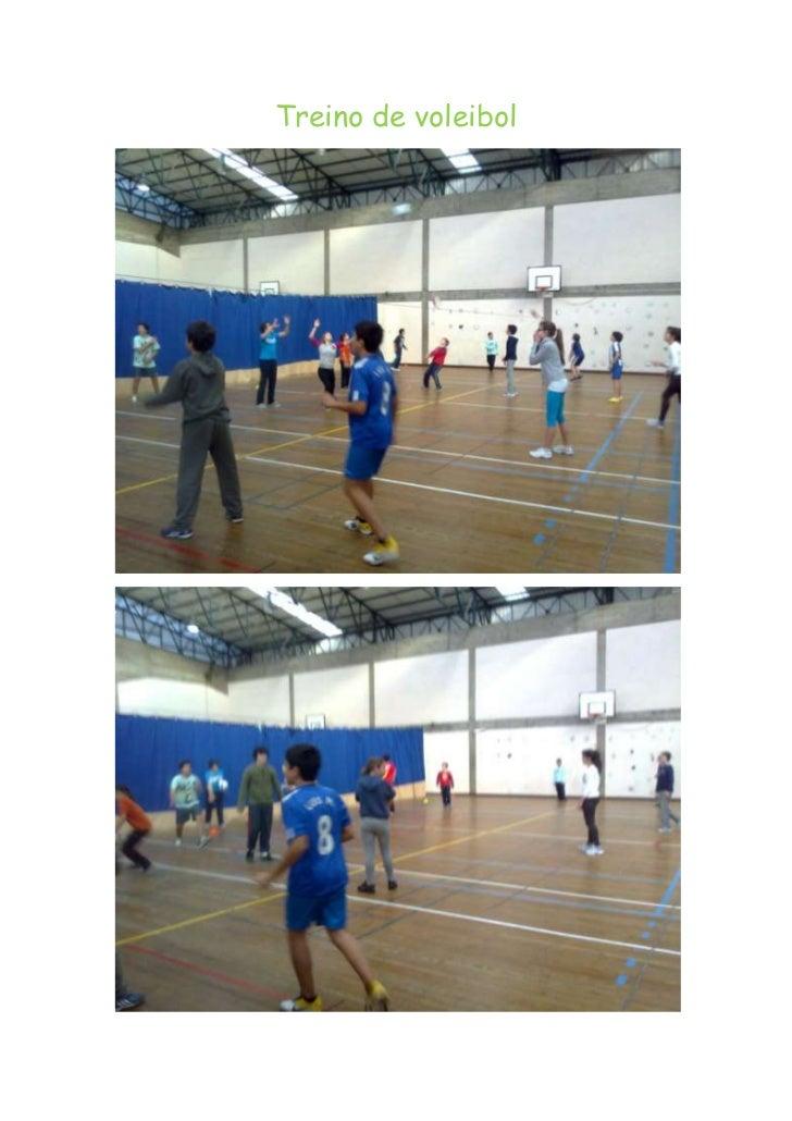 Treino de voleibol