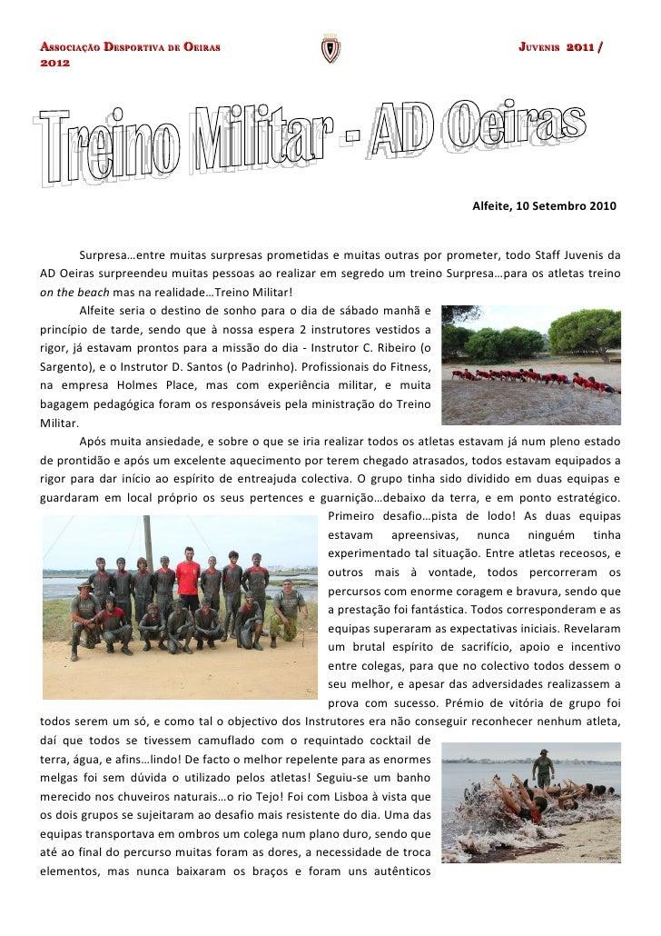 ASSOCIAÇÃO DESPORTIVA DE OEIRAS                                                         JUVENIS 2011 /2012                ...