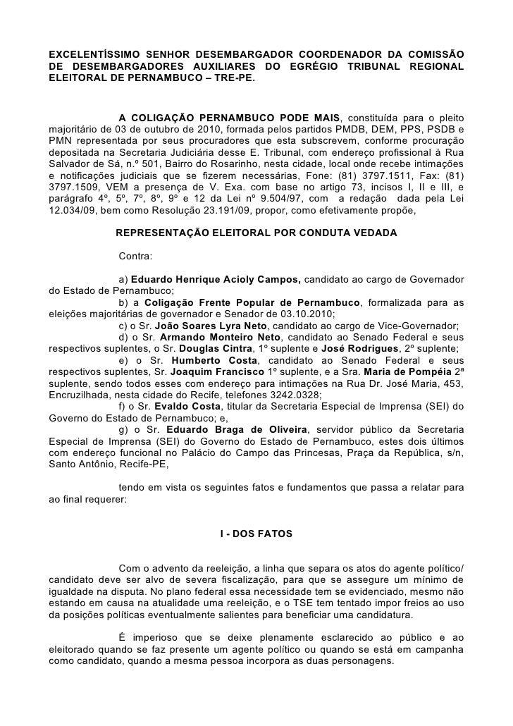 EXCELENTÍSSIMO SENHOR DESEMBARGADOR COORDENADOR DA COMISSÃO DE DESEMBARGADORES AUXILIARES DO EGRÉGIO TRIBUNAL REGIONAL ELE...
