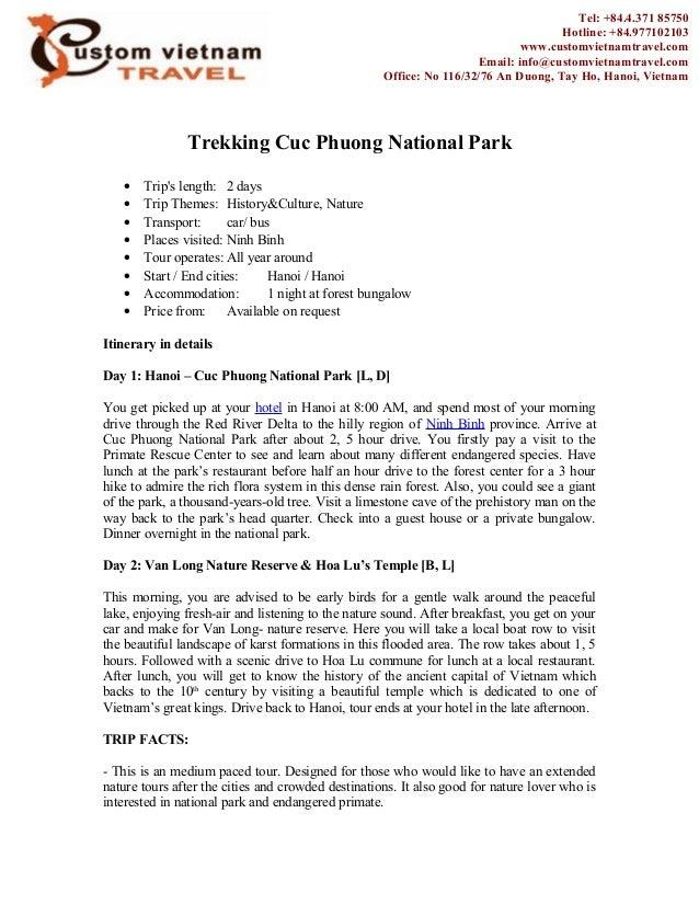 Trekking Cuc Phuong National Park • Trip's length: 2 days • Trip Themes: History&Culture, Nature • Transport: car/ bus • P...