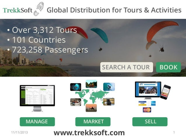 Global Distribution for Tours & Activities  • Over 3,312 Tours • 101 Countries • 723,258 Passengers SEARCH A TOUR  MANAGE ...