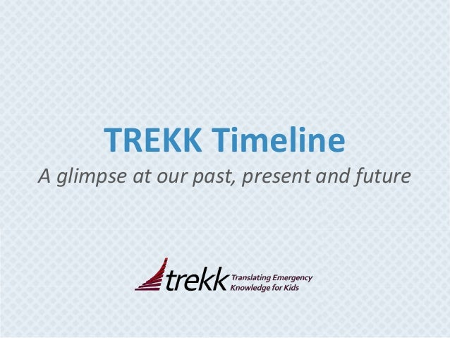 TREKK Timeline A glimpse at our past, present and future