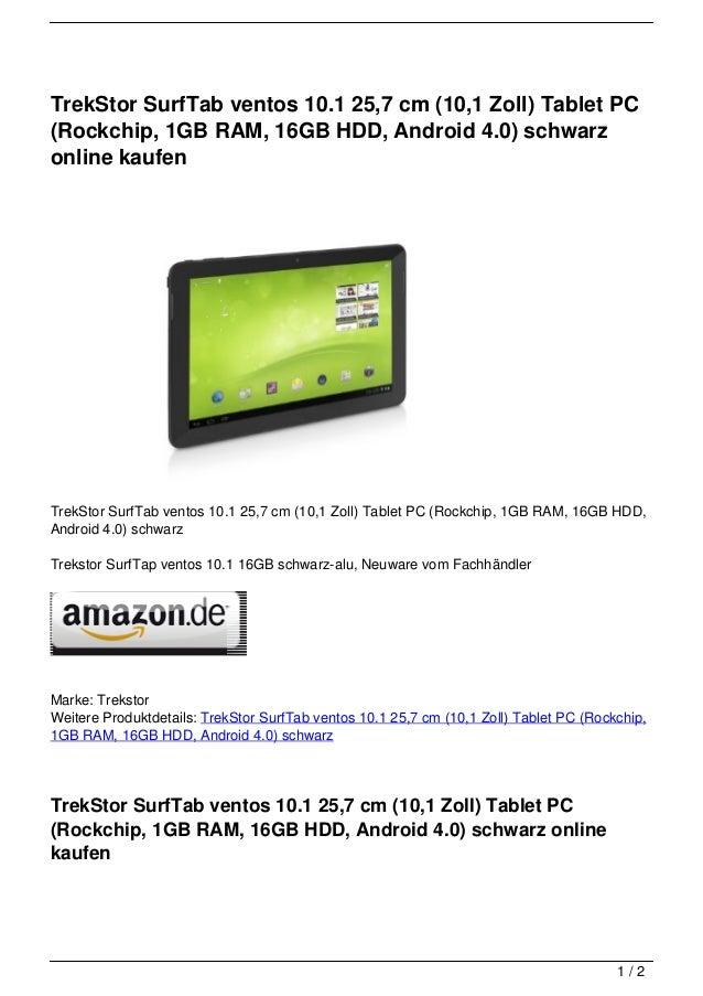 trekstor surftab ventos 10 1 25 7 cm 10 1 zoll tablet pc. Black Bedroom Furniture Sets. Home Design Ideas