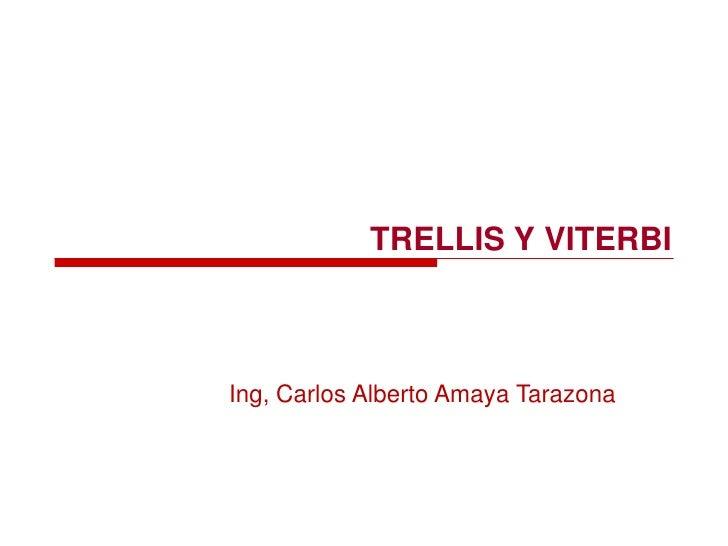 TRELLIS Y VITERBI<br />Ing, Carlos Alberto Amaya Tarazona<br />