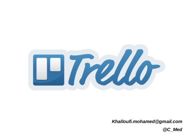 Khalloufi.mohamed@gmail.com @C_Med