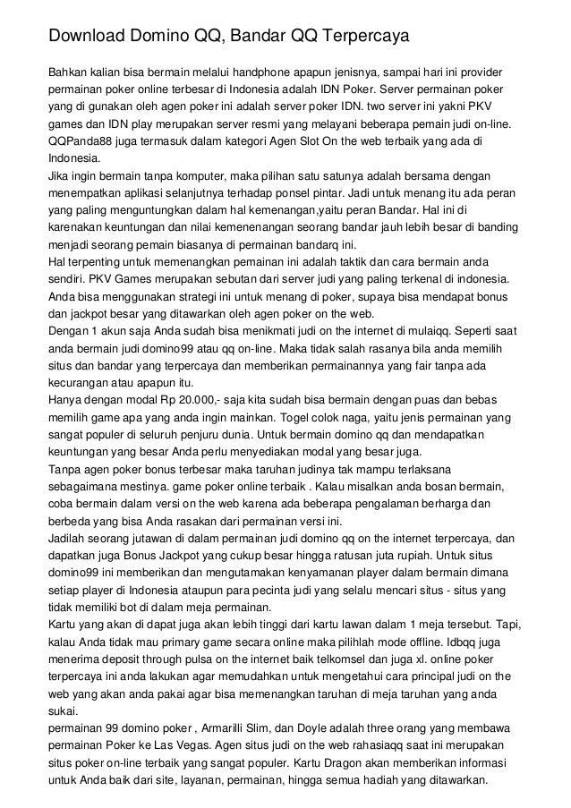 Download Domino Qq Bandar Qq Terpercaya