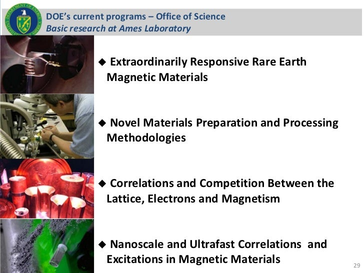 DOE's current programs – Office of ScienceBasic research at Ames Laboratory             Extraordinarily                  ...