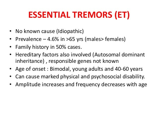 causes of head tremors in adults