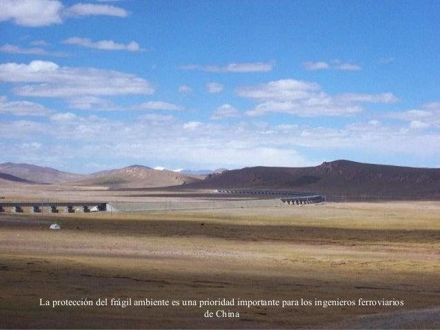 La protección del frágil ambiente es una prioridad importante para los ingenieros ferroviarios de China