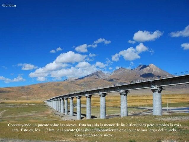 •Building Construyendo un puente sobre las nieves. Esta ha sido la menor de las dificultades pero también la más cara. Est...