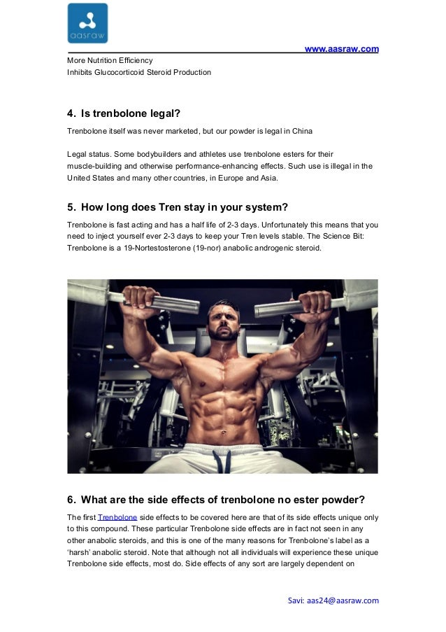 Trenbolone base powder side effect, dosage, half life for