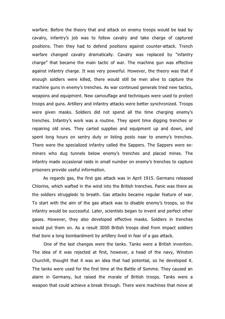 life and suffering in the trenches essay Letter to a soldier - life in the trenches 6 pages 1493 words november 2014 saved essays save your essays here so you can locate them quickly.