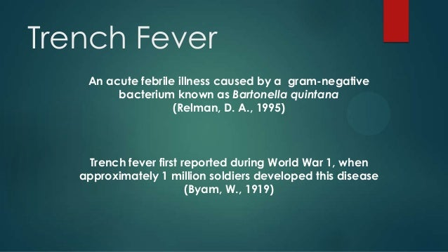 World War 1 Trench Fever