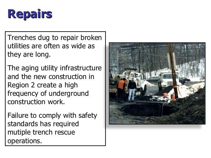 Repairs Trenches dug to repair broken utilities are often as wide as they are long. The aging utility infrastructure and t...